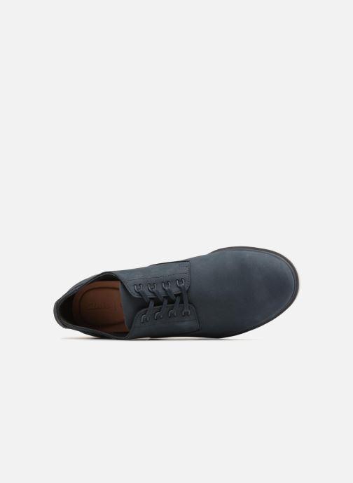 Chaussures à lacets Clarks Glaston Walk Bleu vue gauche