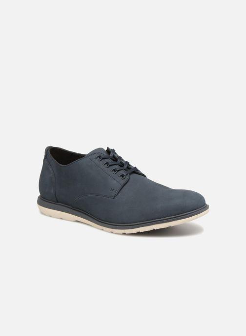 Chaussures à lacets Clarks Glaston Walk Bleu vue détail/paire