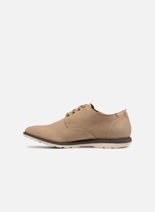 Chaussures à lacets Clarks Glaston Walk Beige vue face