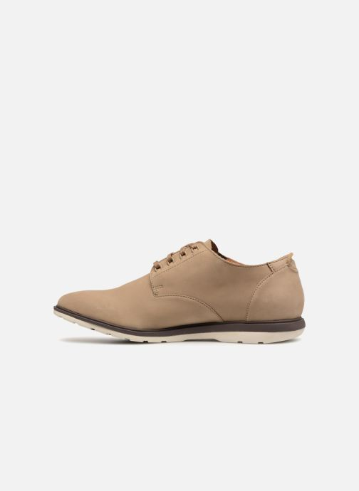 Lace-up shoes Clarks Glaston Walk Beige front view