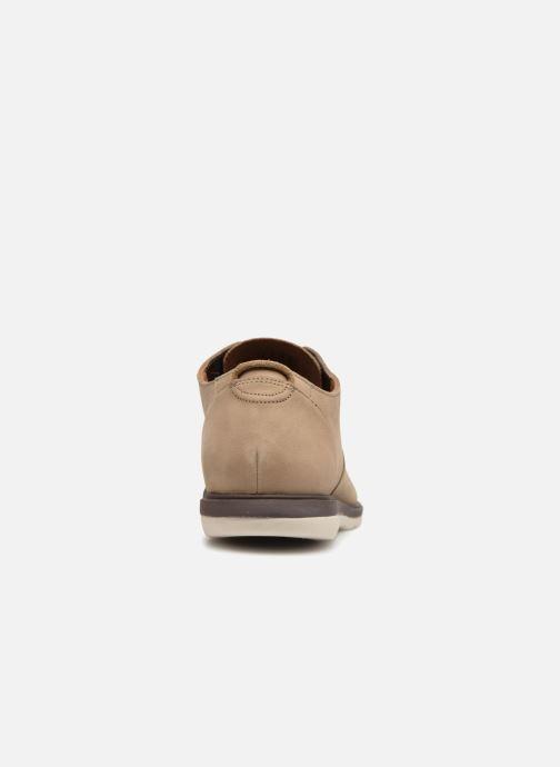 Chaussures à lacets Clarks Glaston Walk Beige vue droite