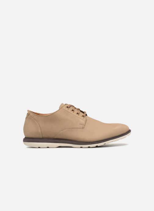 Lace-up shoes Clarks Glaston Walk Beige back view