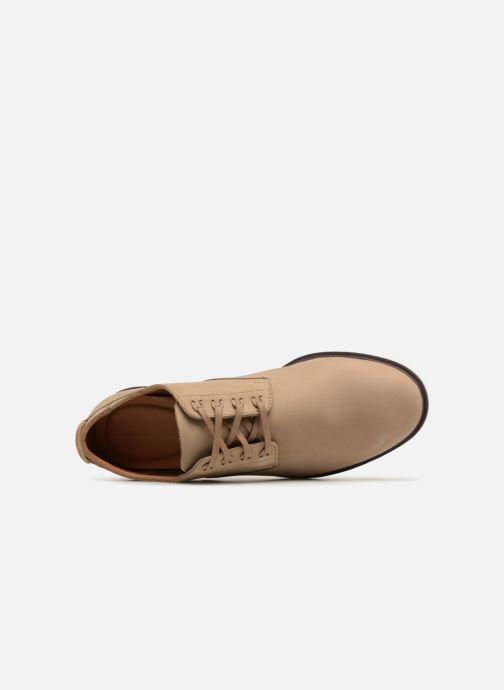 Lace-up shoes Clarks Glaston Walk Beige view from the left