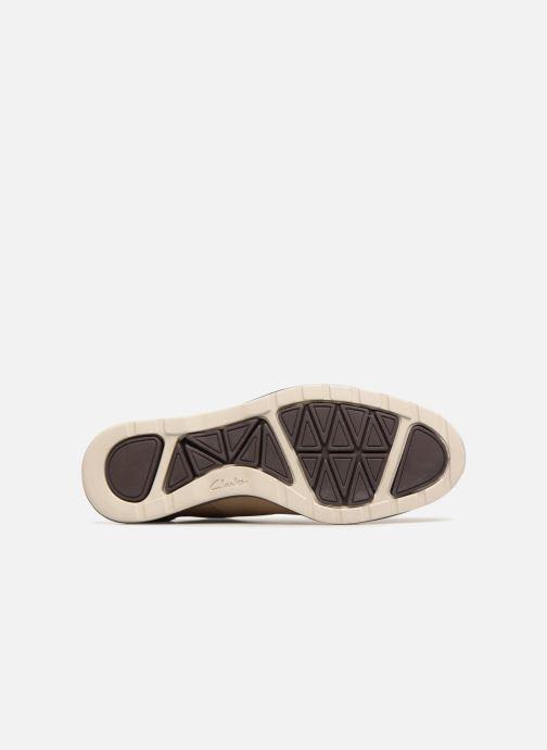 Chaussures à lacets Clarks Glaston Walk Beige vue haut