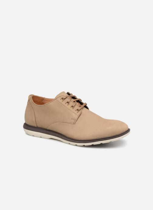 Lace-up shoes Clarks Glaston Walk Beige detailed view/ Pair view