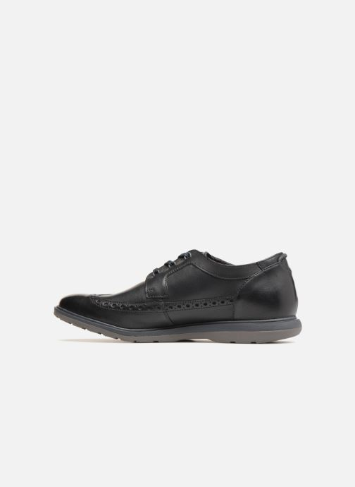 Lace-up shoes Clarks Glaston Wing Black front view