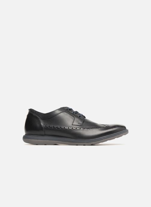 Lace-up shoes Clarks Glaston Wing Black back view