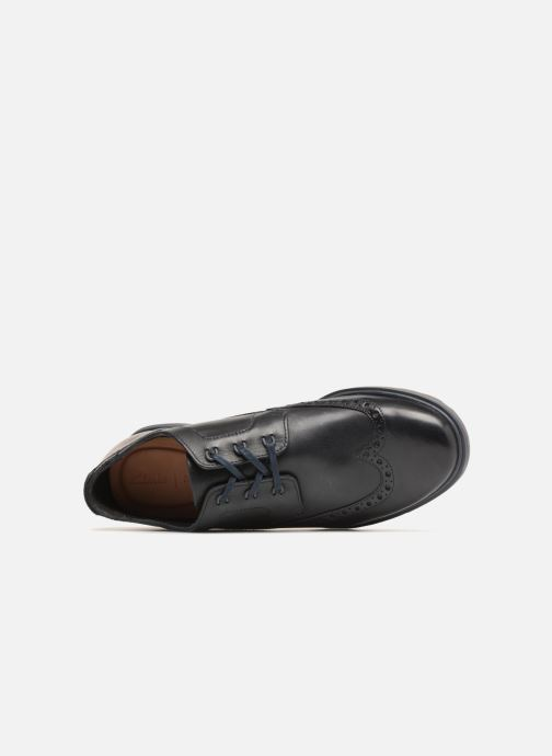 Lace-up shoes Clarks Glaston Wing Black view from the left