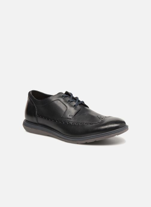 Lace-up shoes Clarks Glaston Wing Black detailed view/ Pair view