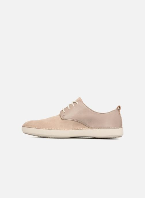 Baskets Clarks Komuter Walk Beige vue face