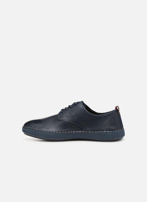 Sneaker Clarks Komuter Walk blau ansicht von vorne