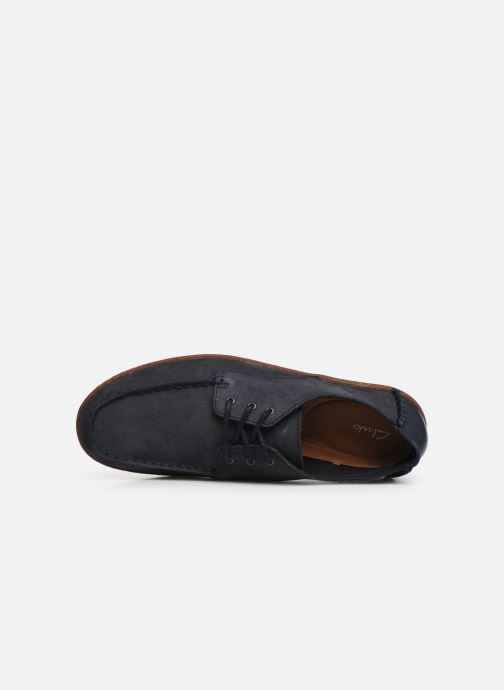 Zapatos con cordones Clarks Saltash Lace Azul vista lateral izquierda