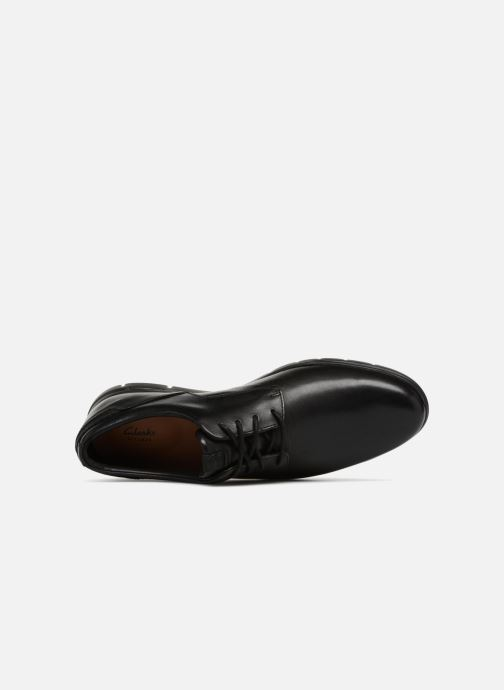 Zapatos con cordones Clarks Vennor Walk Negro vista lateral izquierda