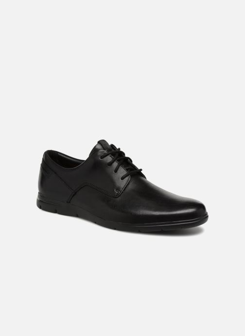 Snøresko Clarks Vennor Walk Sort detaljeret billede af skoene