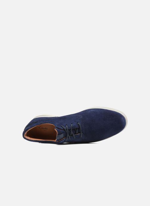 Schnürschuhe Clarks Vennor Walk blau ansicht von links
