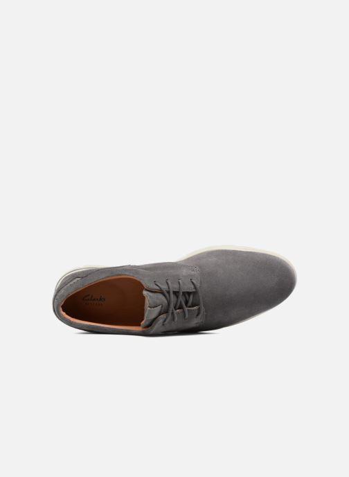 Zapatos con cordones Clarks Vennor Walk Gris vista lateral izquierda
