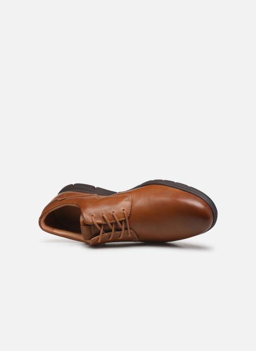 Zapatos con cordones Clarks Vennor Walk Marrón vista lateral izquierda