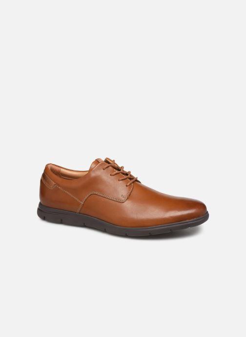 Snøresko Clarks Vennor Walk Brun detaljeret billede af skoene