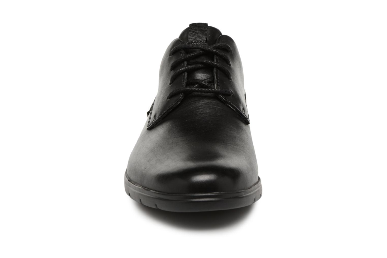Schnürschuhe Clarks Vennor Walk schwarz schuhe getragen