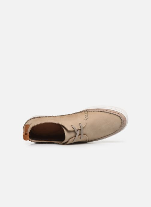 Trainers Clarks Kessell Craft Beige view from the left