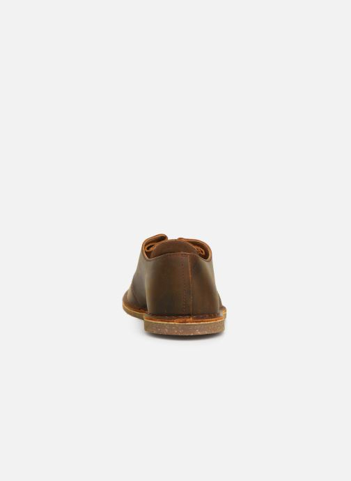 Lace-up shoes Clarks Baltimore Lace Brown view from the right