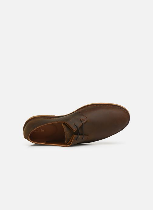 Lace-up shoes Clarks Baltimore Lace Brown view from the left