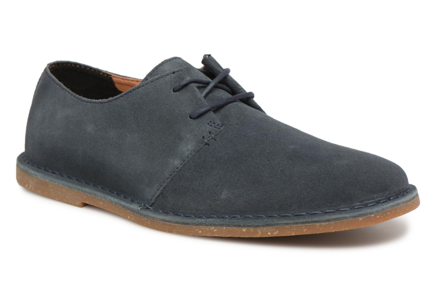 Lace-up shoes Clarks Baltimore Lace Blue detailed view/ Pair view