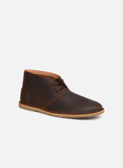 Bottines et boots Clarks Baltimore Mid Marron vue détail/paire