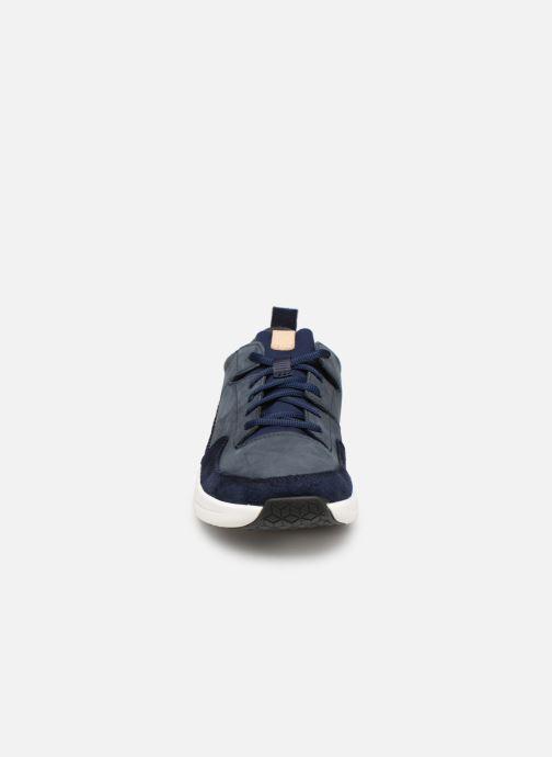 Baskets Clarks TriActive Run Bleu vue portées chaussures