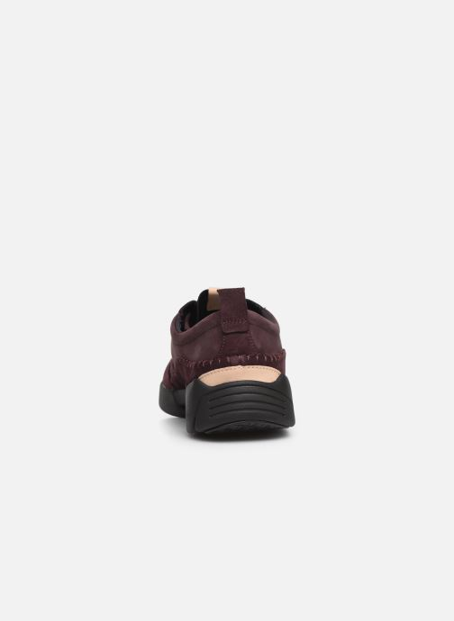 Trainers Clarks TriActive Run Burgundy view from the right