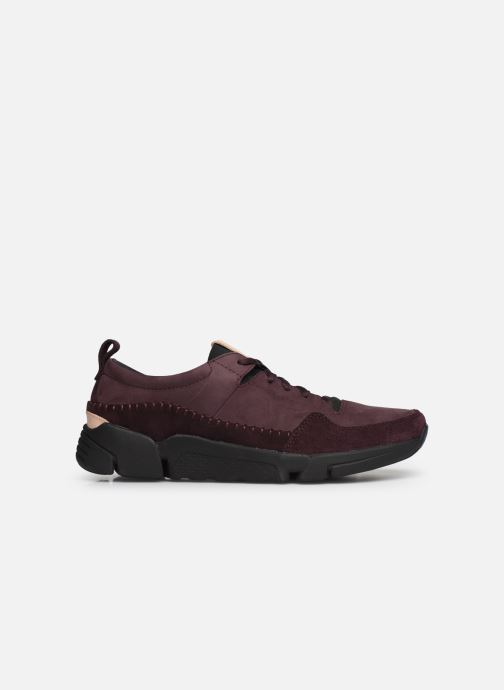 Trainers Clarks TriActive Run Burgundy back view