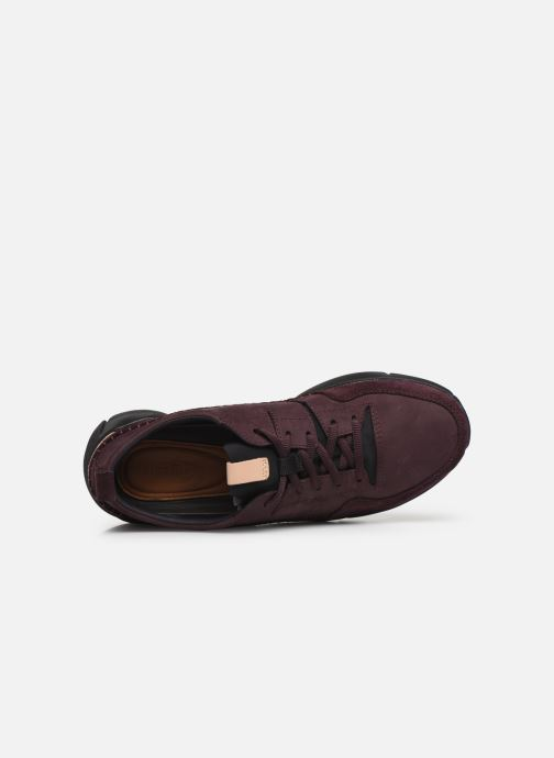 Trainers Clarks TriActive Run Burgundy view from the left