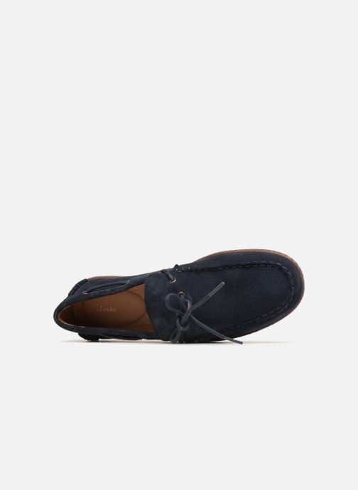 Lace-up shoes Clarks Saltash Edge Blue view from the left