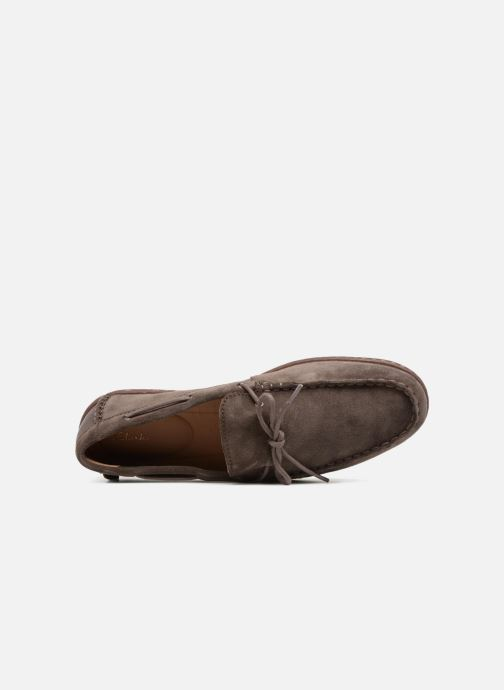 Lace-up shoes Clarks Saltash Edge Grey view from the left