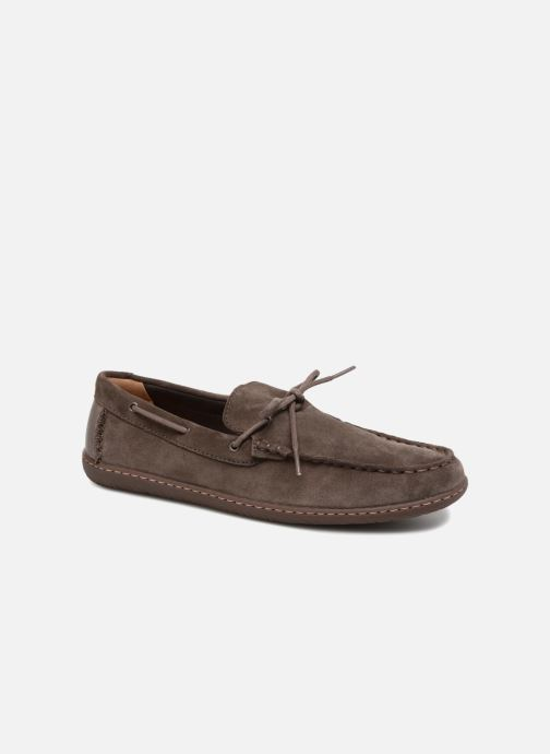 Lace-up shoes Clarks Saltash Edge Grey detailed view/ Pair view
