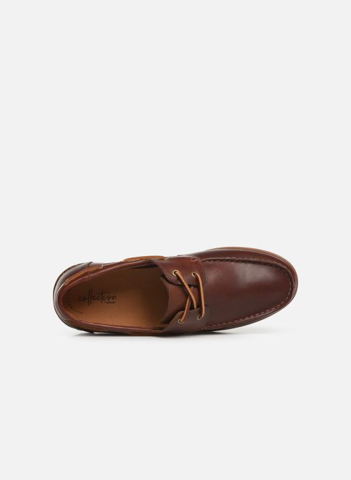 Zapatos con cordones Clarks Morven Sail Marrón vista lateral izquierda