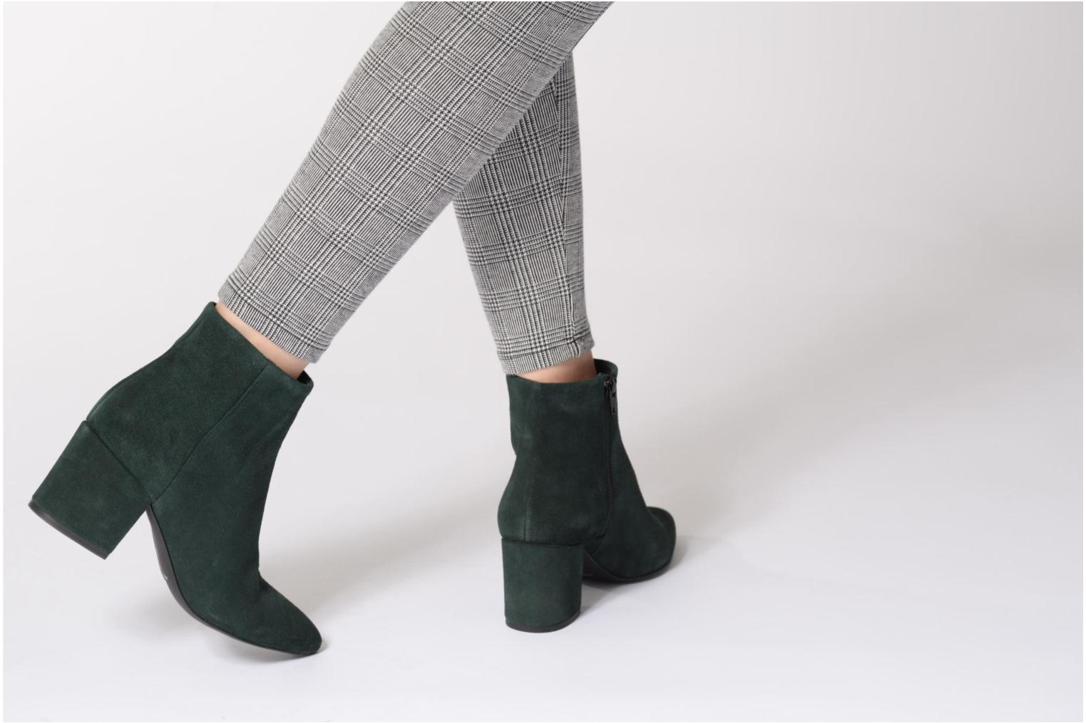 Ankle boots Vero Moda ASTRID LEATHER BOOT Green view from underneath / model view