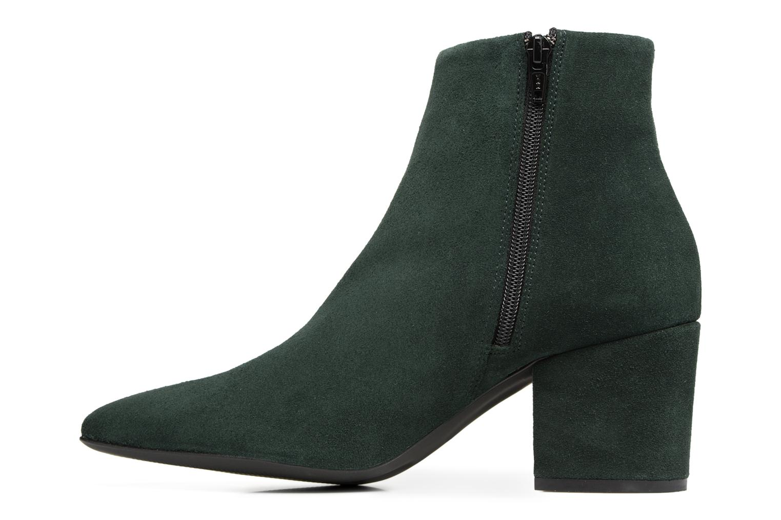 Ankle boots Vero Moda ASTRID LEATHER BOOT Green front view