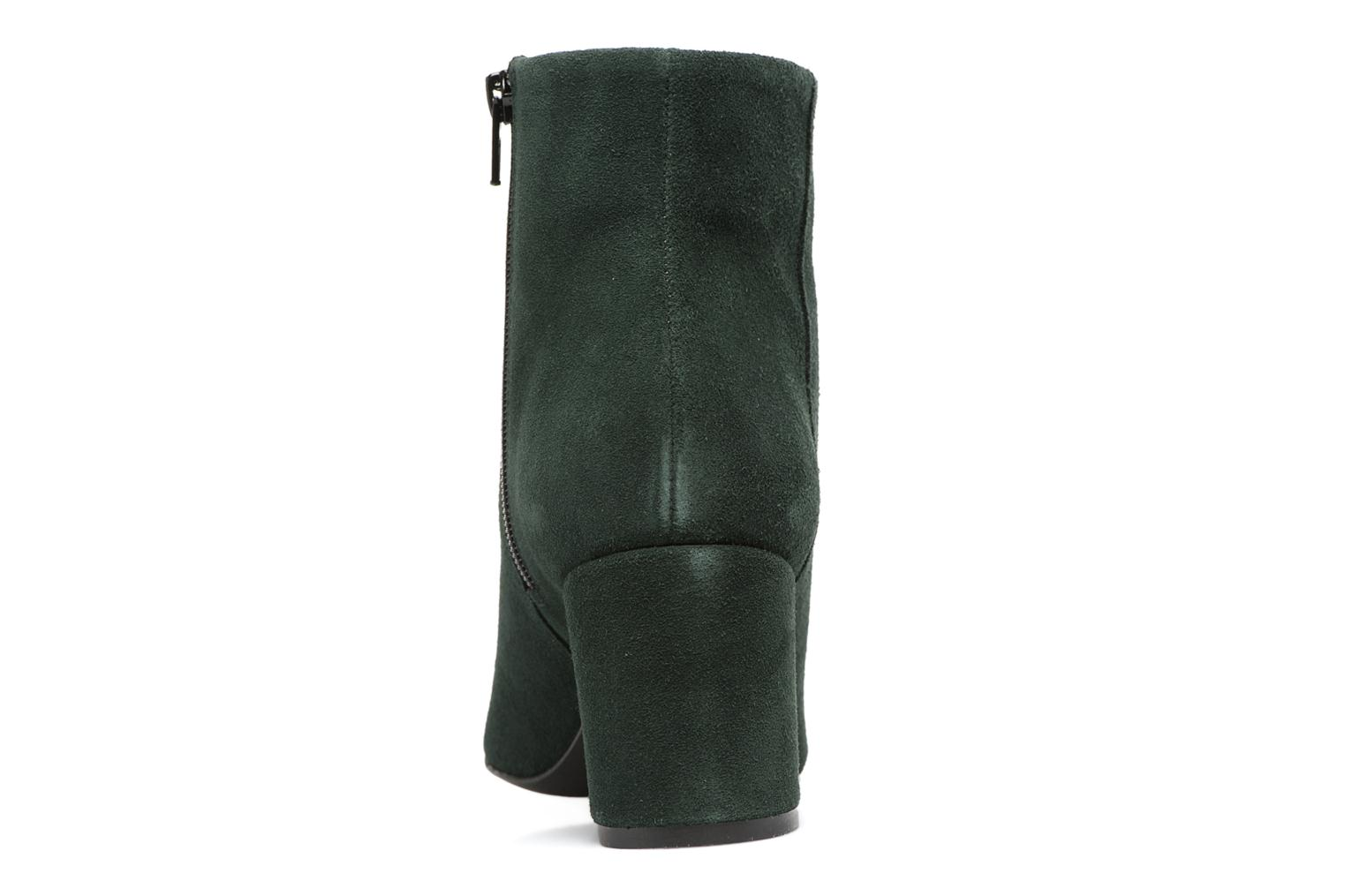 Ankle boots Vero Moda ASTRID LEATHER BOOT Green view from the right