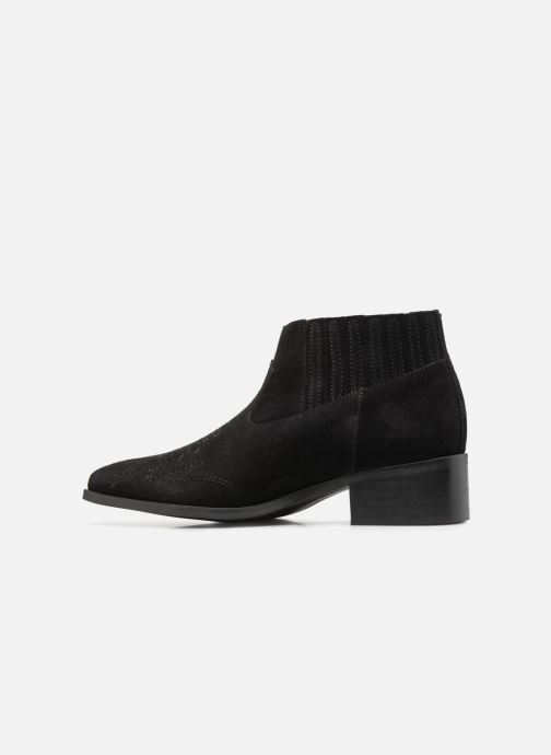 Bottines et boots Vero Moda TOBIA LEATHER BOOT Noir vue face