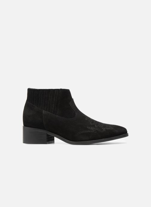 Botines  Vero Moda TOBIA LEATHER BOOT Negro vistra trasera