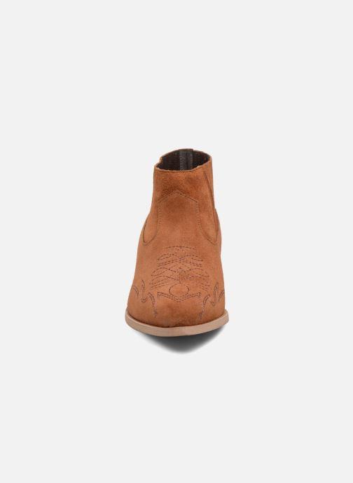Bottines et boots Vero Moda TOBIA LEATHER BOOT Marron vue portées chaussures