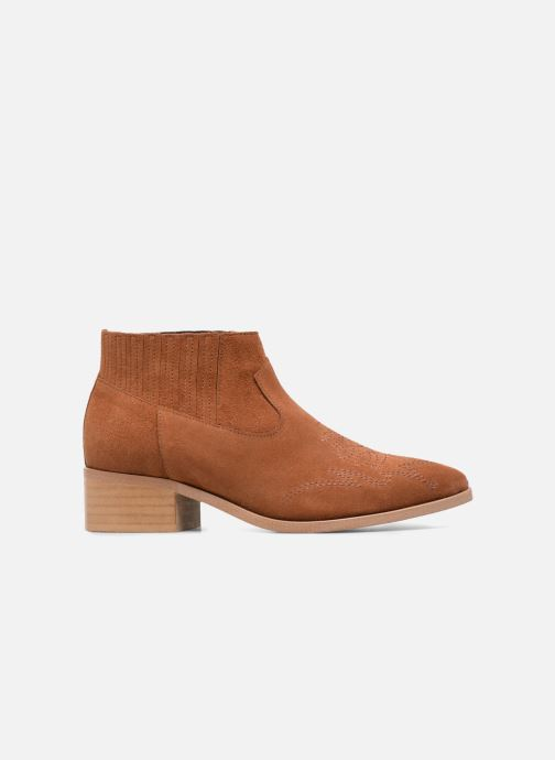 Ankle boots Vero Moda TOBIA LEATHER BOOT Brown back view