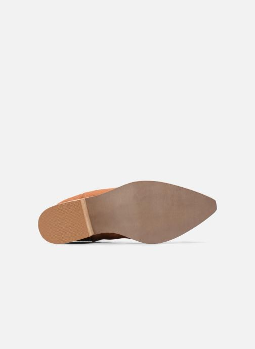 Ankle boots Vero Moda TOBIA LEATHER BOOT Brown view from above