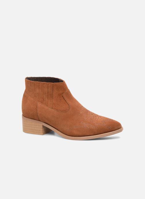 Bottines et boots Vero Moda TOBIA LEATHER BOOT Marron vue détail/paire