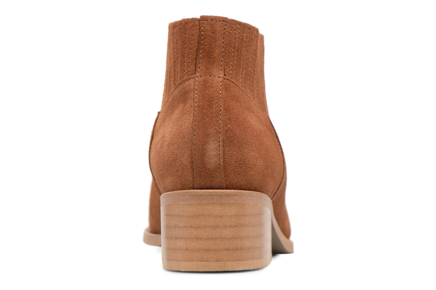 Ankle boots Vero Moda TOBIA LEATHER BOOT Brown view from the right