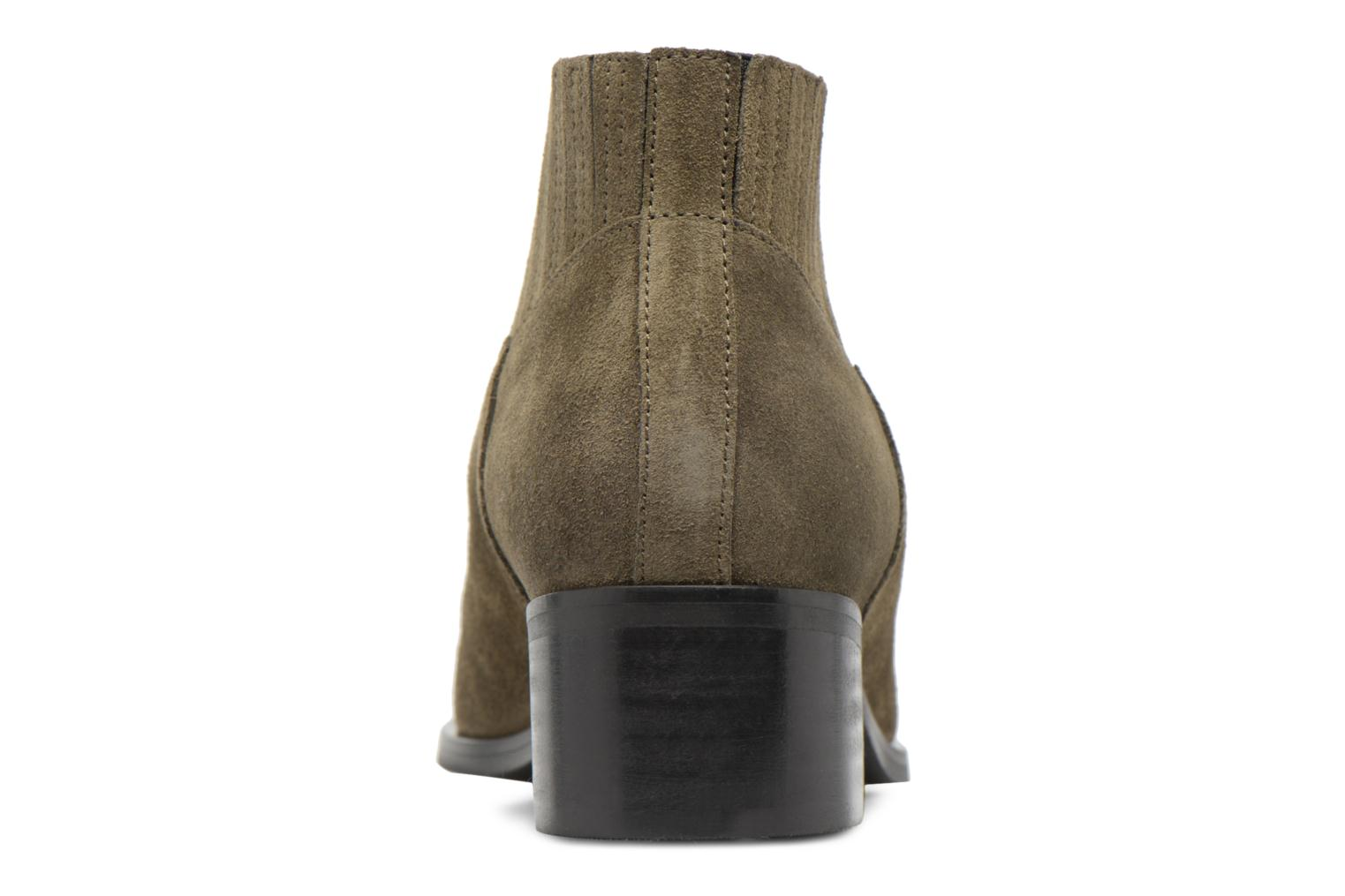 Ankle boots Vero Moda TOBIA LEATHER BOOT Green view from the right