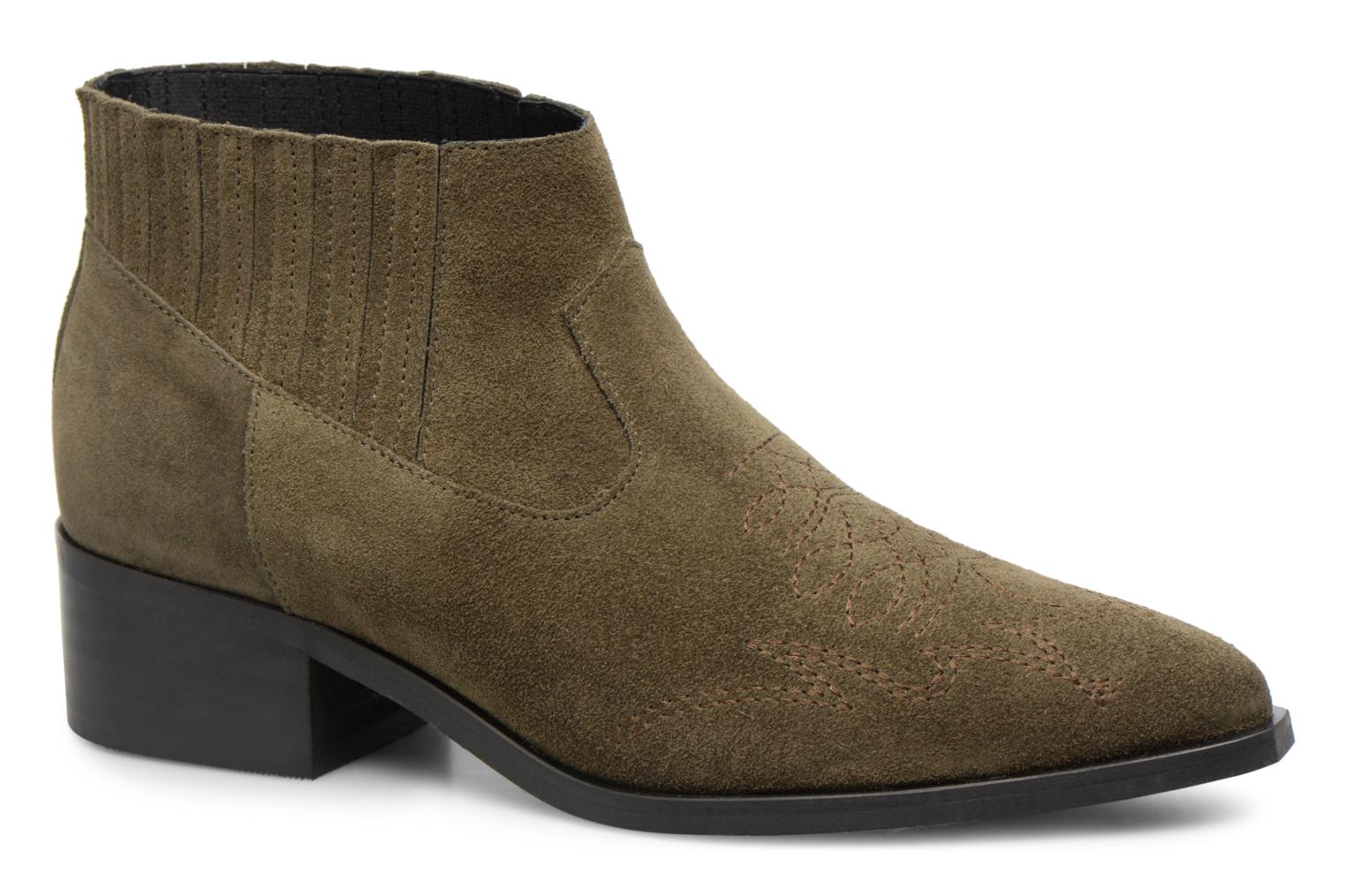 Ankle boots Vero Moda TOBIA LEATHER BOOT Green detailed view/ Pair view