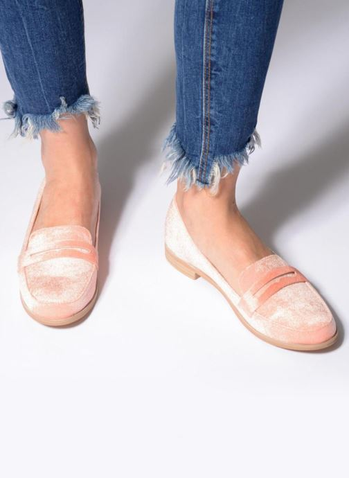 Loafers Vero Moda NORA LOAFER Pink view from underneath / model view