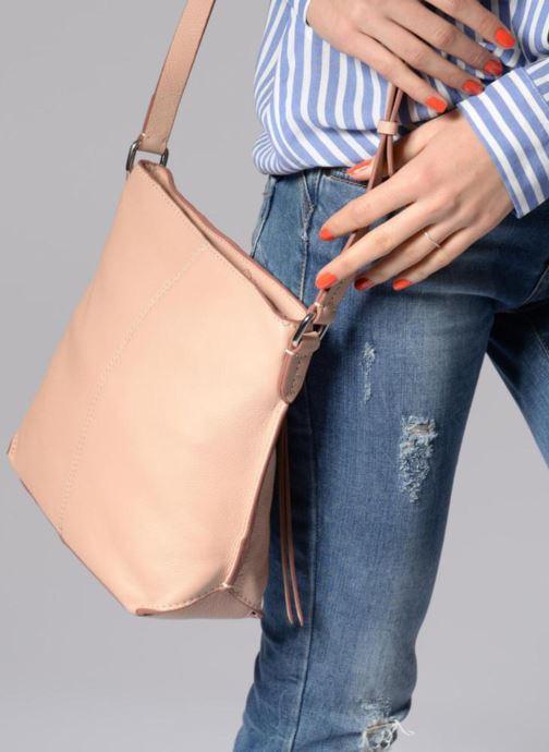 Handtaschen Clarks Topsham Jewl rosa ansicht von unten / tasche getragen